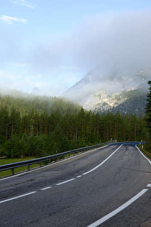 Scenic road in the Dolomites photo