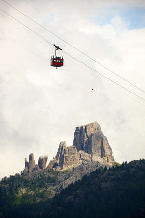 Cablecar in the Dolomites photo