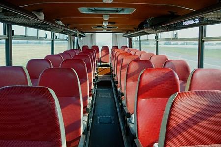 Bus interior of on old vehicle Archivio Fotografico