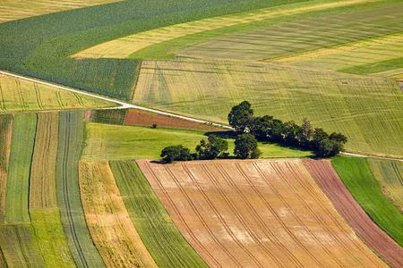 Vista aérea de los campos agrícolas Foto de archivo - 23531861
