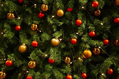 Christmas tree decoration close up Archivio Fotografico