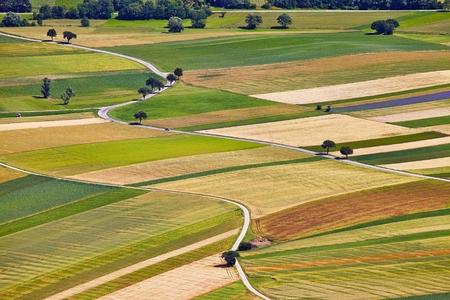 農業分野の空撮 写真素材
