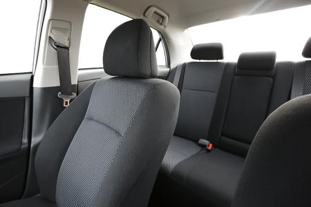 Auto-interieur met achterbank Stockfoto