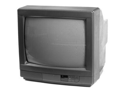 Kleine TV geïsoleerd in een witte achtergrond Stockfoto