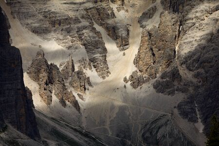 steep cliff: High mountain cliffs in the Dolomites