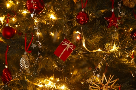 Christmas tree decoration close up Imagens