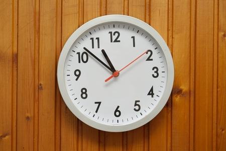 Analogue clock on the wall Archivio Fotografico