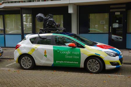 ROTTERDAM, THE NETHERLANDS - SEPTEMBER 17: Google Street View camera car in Rotterdam, 17th of September, 2015. Editorial