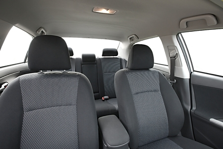Car interior cabin with seats