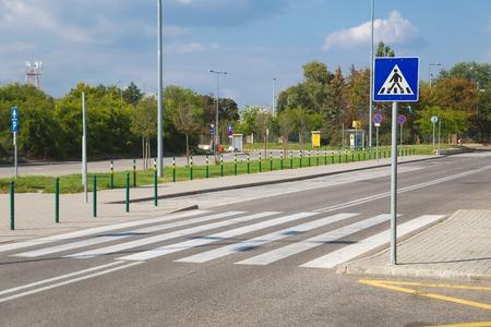 Pedestrian crossing on an urban street