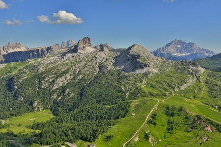 High mountain landscape in the Dolomites Banco de Imagens
