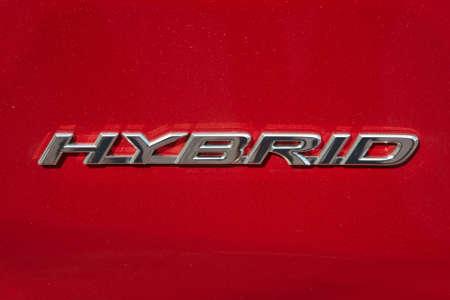 Hybride aanwijzing op een auto