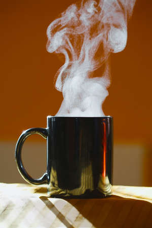 Streaming hot beverage in a cup Stock Photo