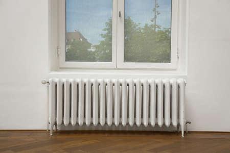 Primo piano di un radiatore di riscaldamento