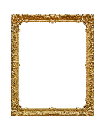 Empty picture frame on white background Banque d'images