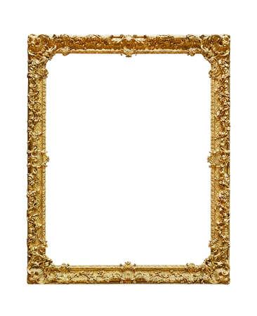Empty picture frame on white background Archivio Fotografico