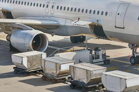 Vliegtuigen Grondverwerking Stockfoto