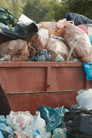 Garbage Containers Full, Overflowing