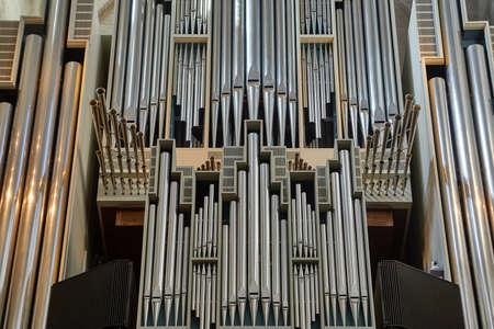 Church organ pipes