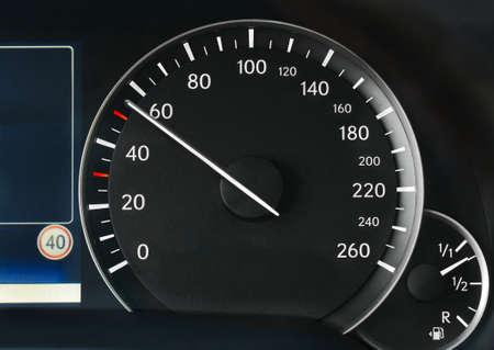 車のスピード メーター 写真素材