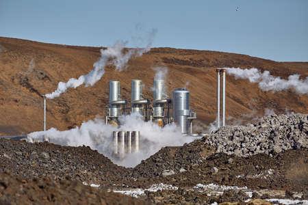 Geothermal power plant Foto de archivo