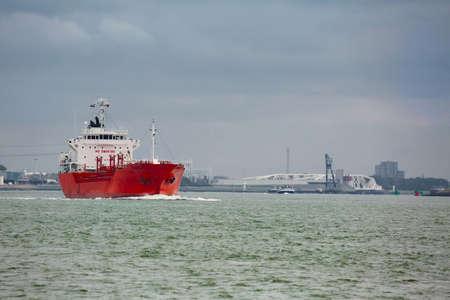 Industrial ship heading out Reklamní fotografie