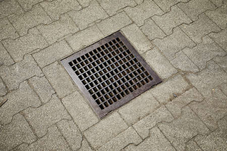 Sewer pit cover 版權商用圖片