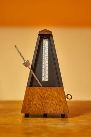 Old Classic Metronome Stock Photo