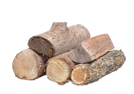 Log wood pile Banque d'images