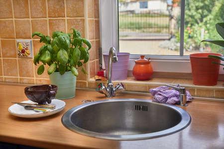 Détail de la cuisine bien rangé Banque d'images - 87481445