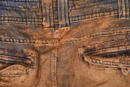 泥がズボン 写真素材