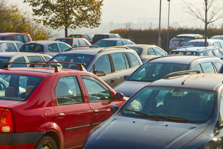 Cars parked in a lot