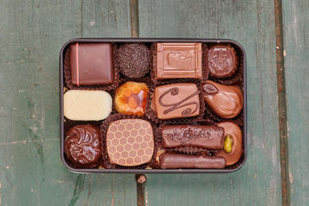 Chocolate candies box