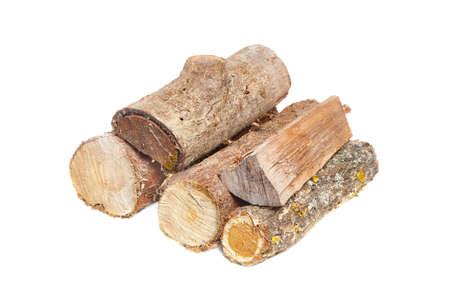 Log wood pile Stock Photo