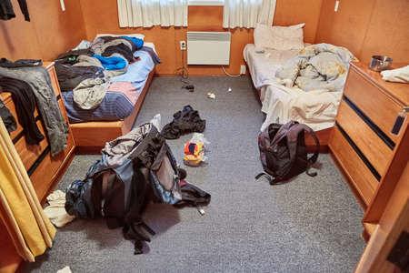 Messy dormitory room