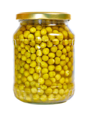 Peas in a jar Imagens