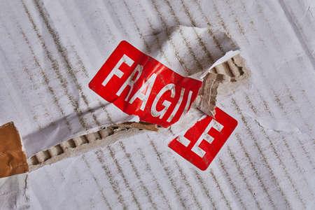 Fragile stamp closeup