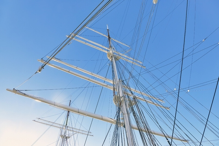 Sail masts in bright light