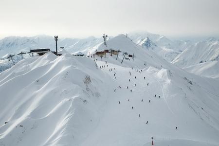Skipisten von oben