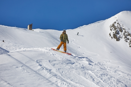 Snowboarder in the Alps