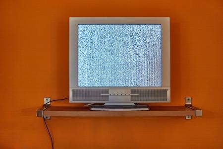 TV no signal Stock Photo