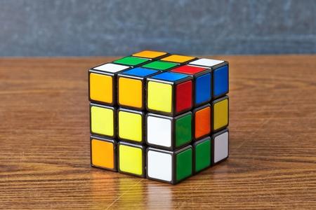 Rubiks cube on white