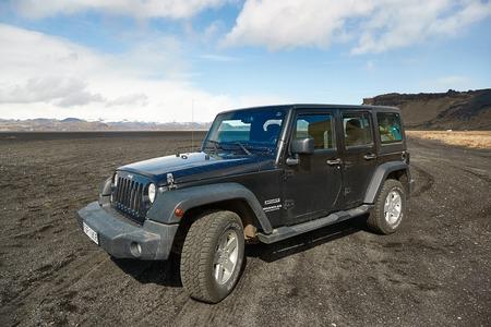 Jeep Wrangler on Icelandic terrain