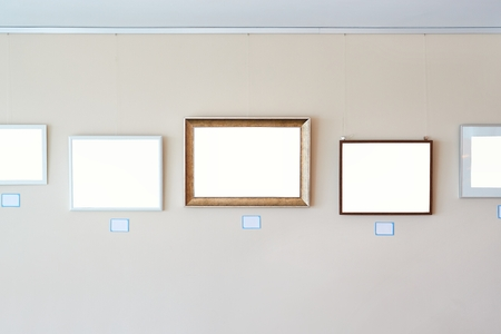 Blank picture frames exhibition template