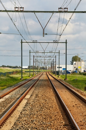 Railway tracks straight section