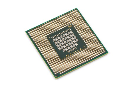 Procesador de computadora Atom CPU Foto de archivo