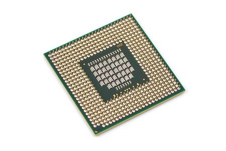Processeur d'ordinateur Atom CPU Banque d'images
