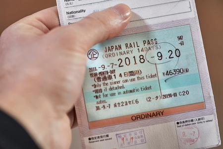 Showing Japan Rail Pass