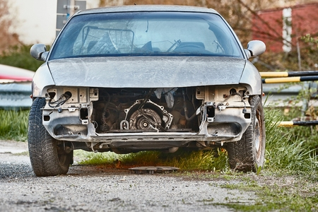 Car Wreck with missing parts