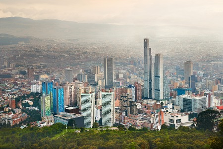 Bogota, Colombia cloudy day Stock Photo